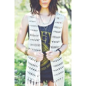 Knitted Cardigan Vest